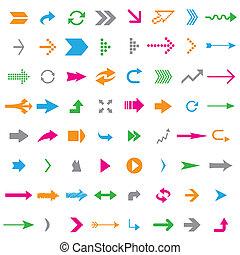 Many arrows - Many colorful arrows