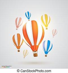 Many balloons. Vector