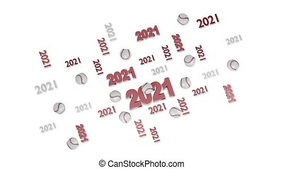 Many Baseball 2021 designs with reflections in Loopable Move on White