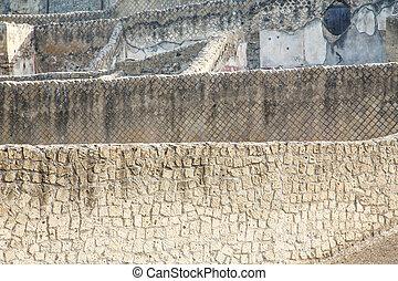 Many Block Walls of Pompeii