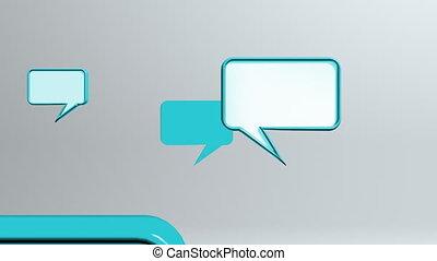 many blue conversation icons