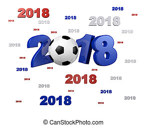 Many Blue Red and White Football 2018 Designs