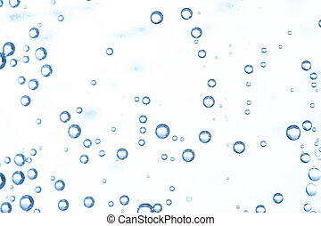 Many bubbles in water close up, abstract water wave with ...