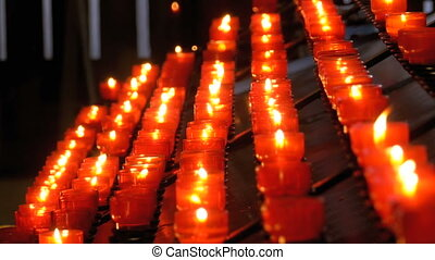 Many Candles Are Lit in the Christian Church of Orthodoxy....