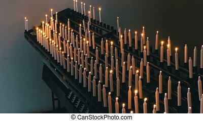 Many Candles Are Lit in the Christian Church