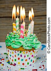 many candles in cupcake