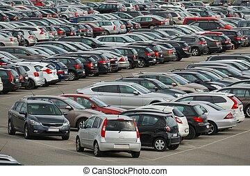 Many Cars Parking