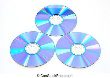 Many CD\'s isolated