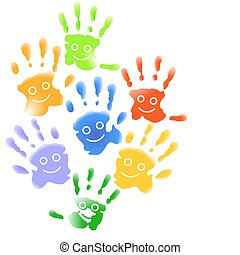 Many child hands