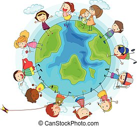 Many children around the world