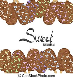 Many chocolate ice cream