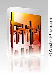 Many christian crosses box package box package