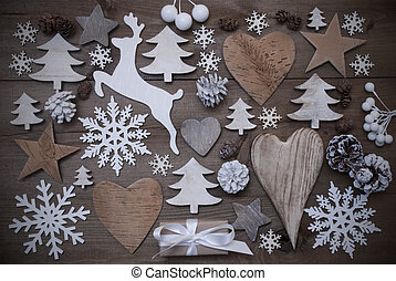 Many Christmas Decoration, Heart, Snowflakes, Star, Present, Reindeer