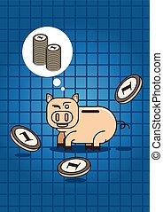 saving for wealth with pig money bo