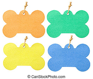 many color of tag isolated on white background