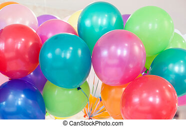 Many colored ballons
