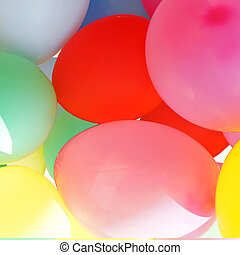 many colored balloons background