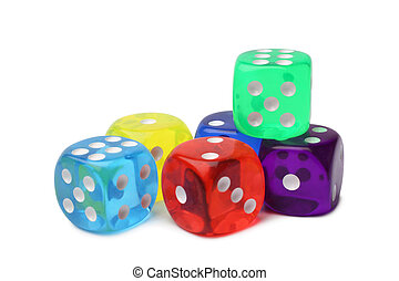 Many-colored dice set