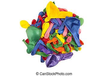 many-colored, léggömb, képben látható, egy, white háttér