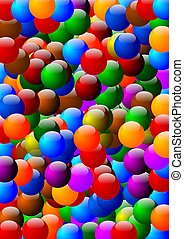 Many colorful beads as background - illustration