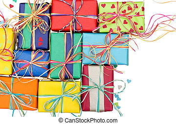 Many colorful gifts - Assortment of many colorful presents...