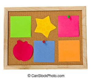 notes on cork board