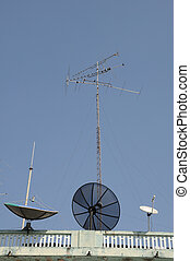 Many communications tools on top of building