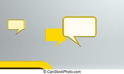 many conversation icons yellow