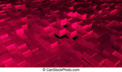 Many cubes, computer generated modern abstract background