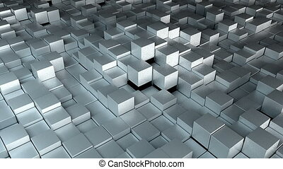 Many cubes, computer generated modern abstract background,...