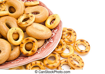 bagels on a plate