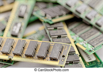 Many different computer memory modules