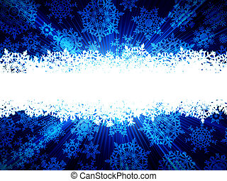 Winter background with many different falling stylish snowflakes. EPS 10 vector file included