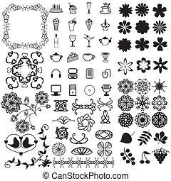 many different objects on white background vector