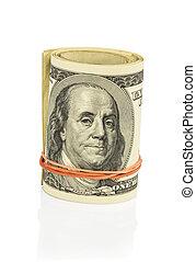 many dollar bills - many american dollar bills. symbolic...