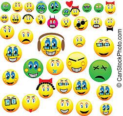 many emoticons