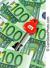many euro bank notes in the safe