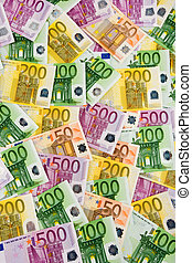 Euro banknotes - Many Euro banknotes money. Image Photos of...