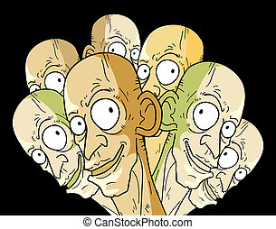 Many faces