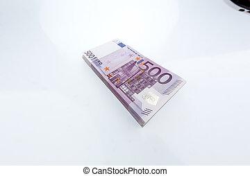 five hundred euro bills - many five hundred euro bills....