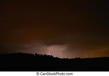 many flashes and black mountain - many bright flashes and...