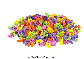 many foam letters