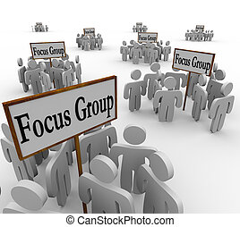 Many Focus Groups People Meeting Signs Niche Customers -...