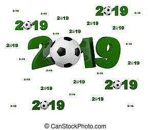 Many Football 2019 Designs with many Balls