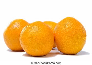 Many fresh orange fruits
