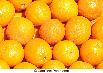 many fresh orange