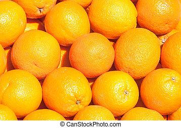 many fresh orange