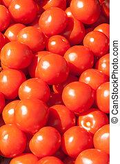 many fresh red ripe tomatos