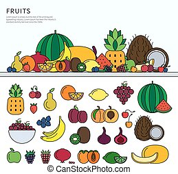 Many fruits on the table
