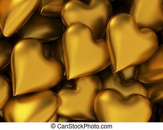 Many golden hearts